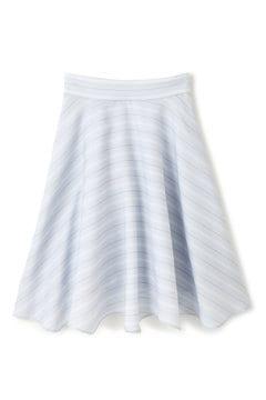 【先行予約_3月中旬入荷予定】ダブルストライププリントスカート