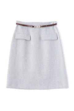 ビットベルト付きタイトスカート