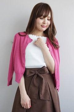 【美人百花 5月号掲載】シャイニーフラワーニットカーディガン