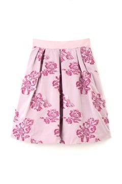 【cancam 12月号掲載】【美人百花 11月号掲載】ビッグフラワーカットジャガードスカート