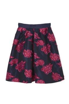 【美人百花 11月号掲載】ビッグフラワーカットジャガードスカート