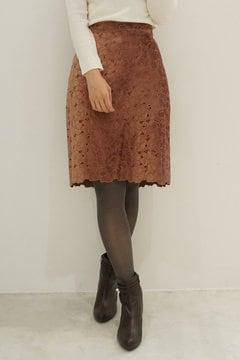スムースベロアエンブロイダリータイトスカート