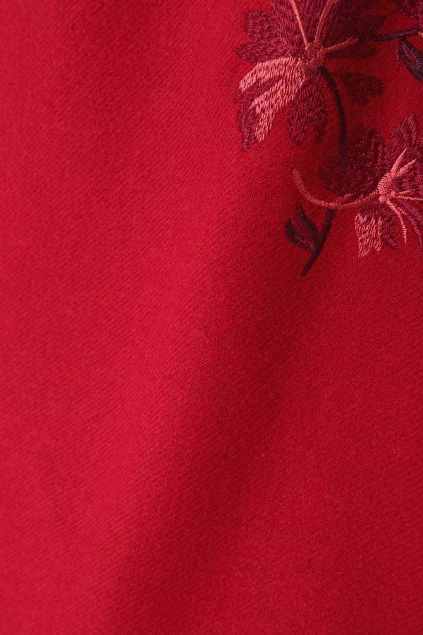 フラワー刺繍カラーミニスカート