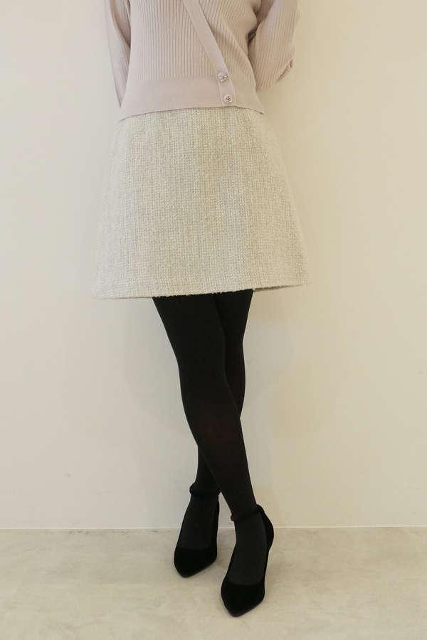 フィルムツィード台形スカート