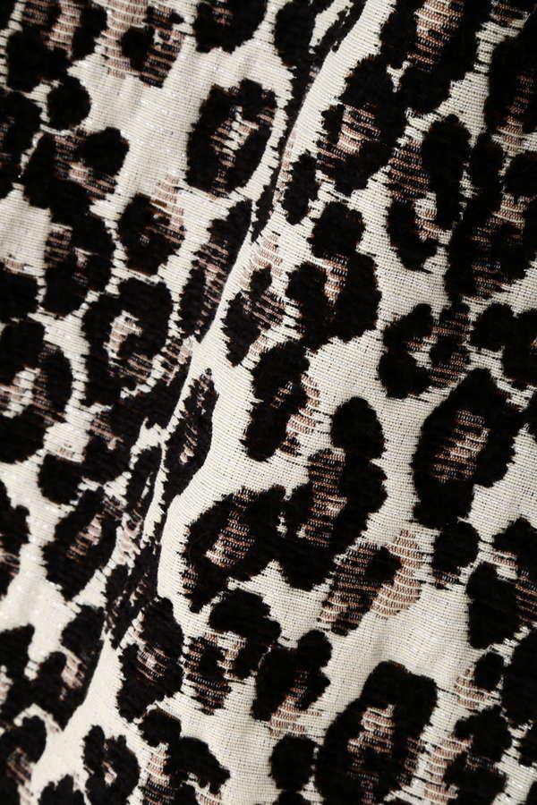 レオパードジャガードスカート