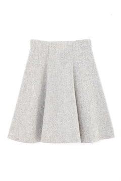 【美人百花 12月号掲載】【cancam 12月号掲載】ウールブークレーフレアースカート