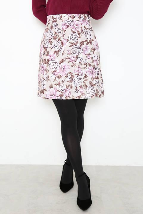 【cancam 1月号掲載】ローズゴブランプリントミニスカート
