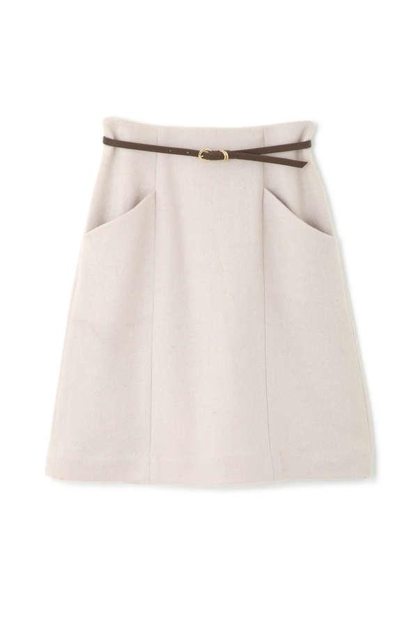 【美人百花 12月号掲載】ベルト付きファーポケットスカート