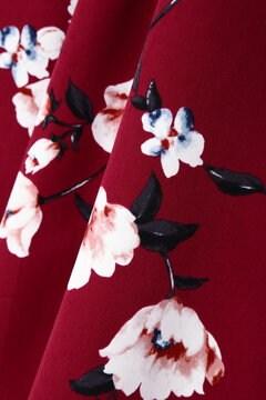 【美人百花 11月号掲載】【cancam 11月号掲載】[TGC着用]ピーチヴィンテージフラワーベルト付フレアースカート