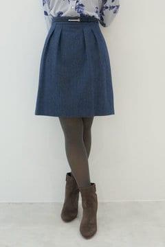ベルト付きウーリッシュフラノスカート