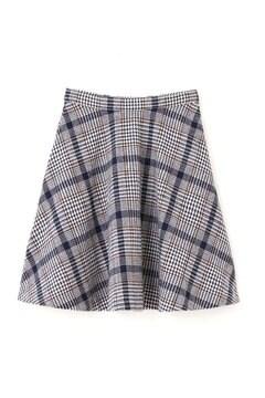 【美人百花 11月号掲載】ビッグチェックフレアースカート