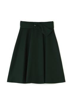 カラーサッシュフレアスカート