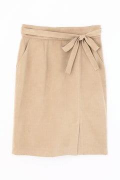 【先行予約_10月中旬入荷予定】シルキースエードタイトスカート