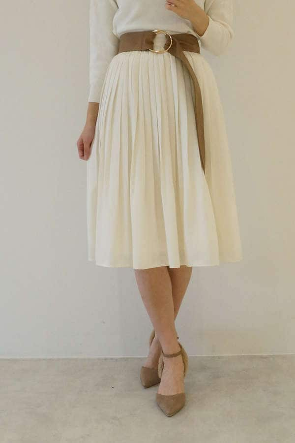 マロンサテンプリーツスカート