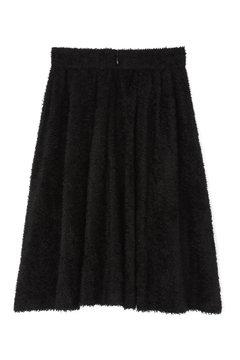 モノトーンフェザースカート