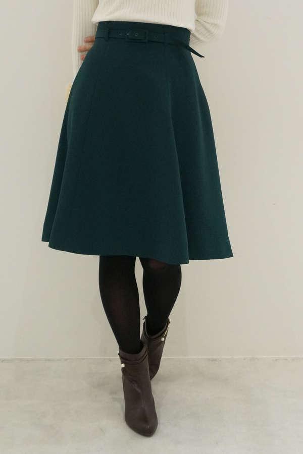【美人百花 11月号掲載】【cancam 11月号掲載】オータムカラーフレアースカート