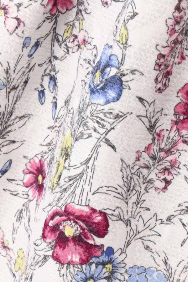 【美人百花 12月号掲載】【cancam 12月号掲載】ボタニカルジャガードプリントスカート