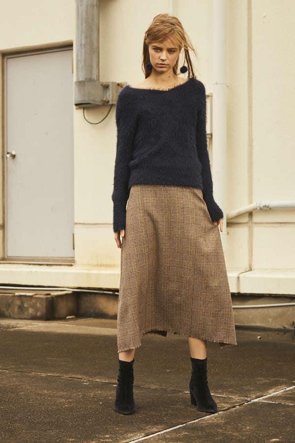 《BLANCHIC》チェックツィードスカート