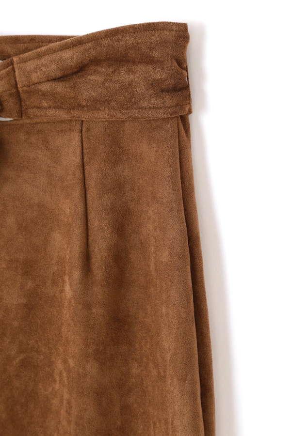 《BLANCHIC》カラースエードペンシルタイトスカート