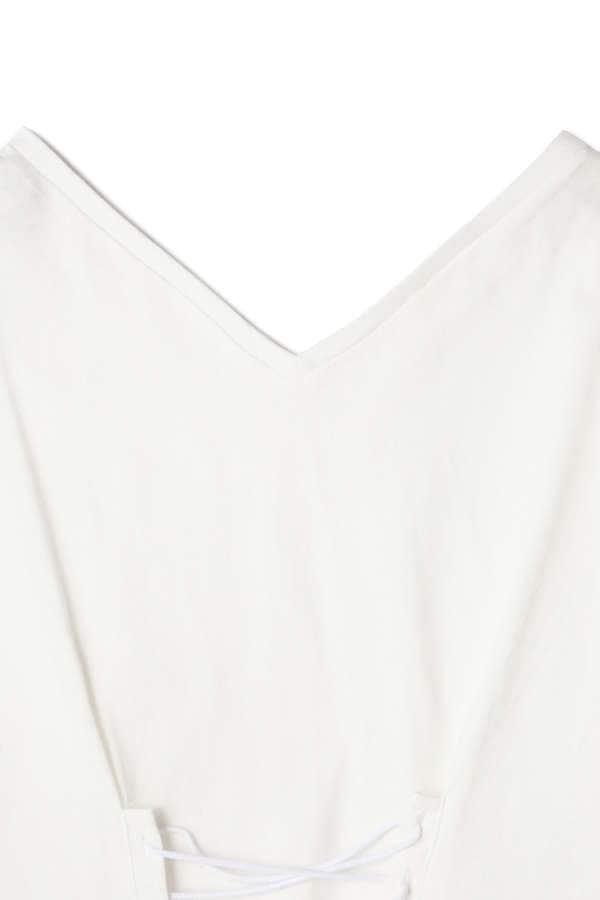 《BLANCHIC》レースアップTシャツ