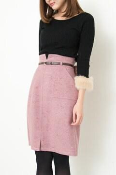 ネップツィードタイトスカート
