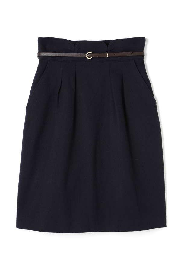 ベルト付チューリップタイトスカート