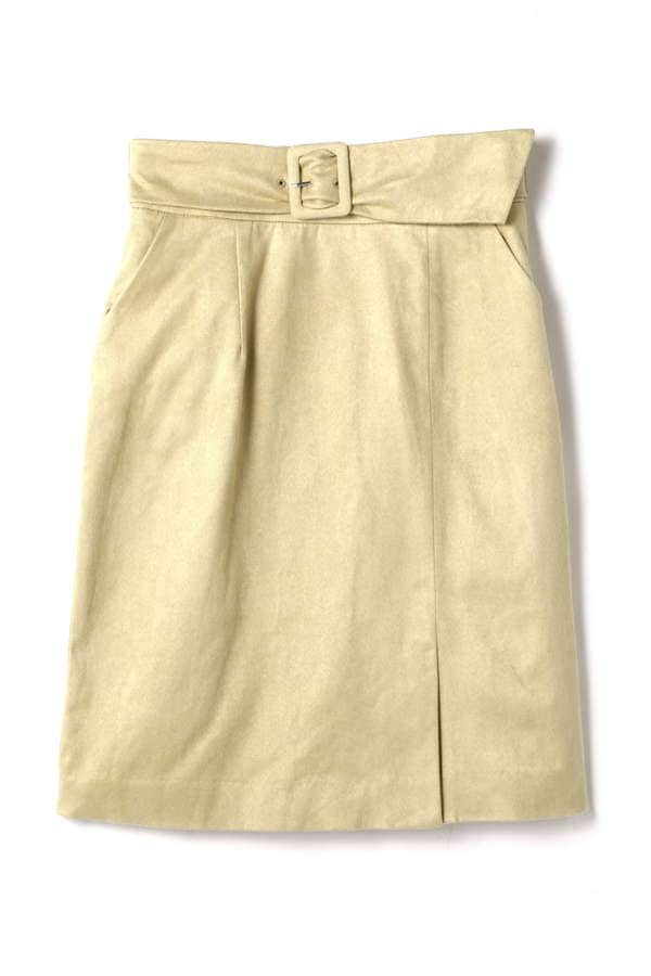 フェイクスエードサッシュタイトスカート