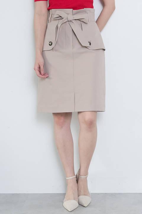 トレンチツイルタイトスカート