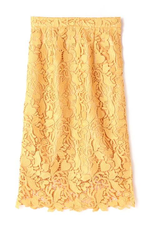 リーフハートケミカルロングスカート