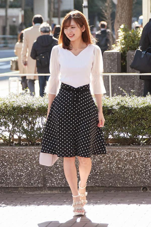 【美人百花6月号掲載】ドットフレアースカート