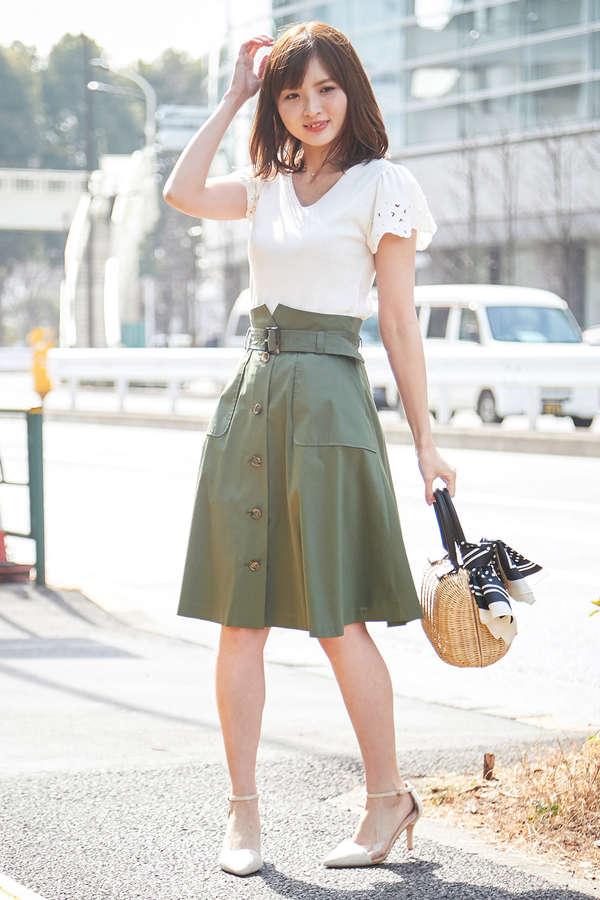 【美人百花6月号掲載】トレンチフレアースカート