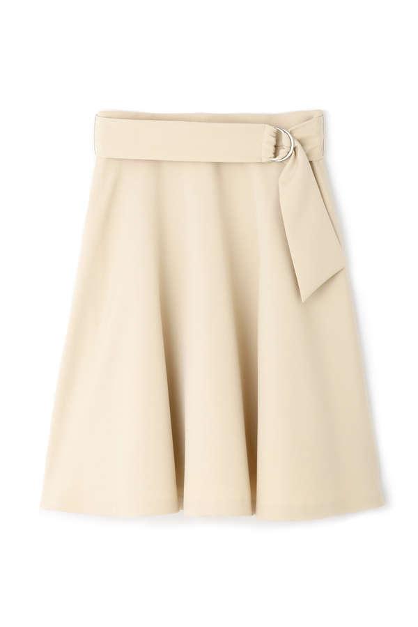 カラーサッシュフレアースカート