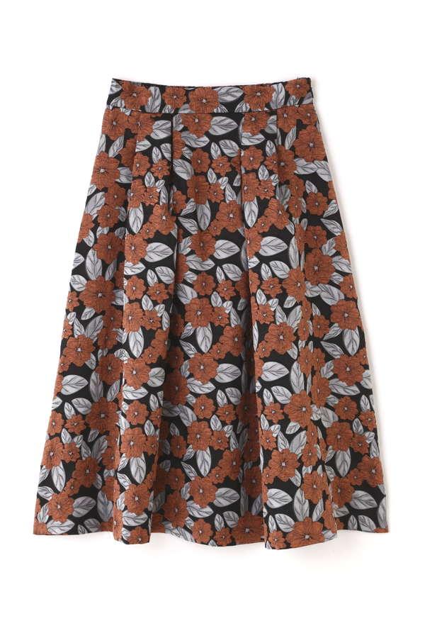 《EDIT COLOGNE》ミディータックフレアージャガードスカート