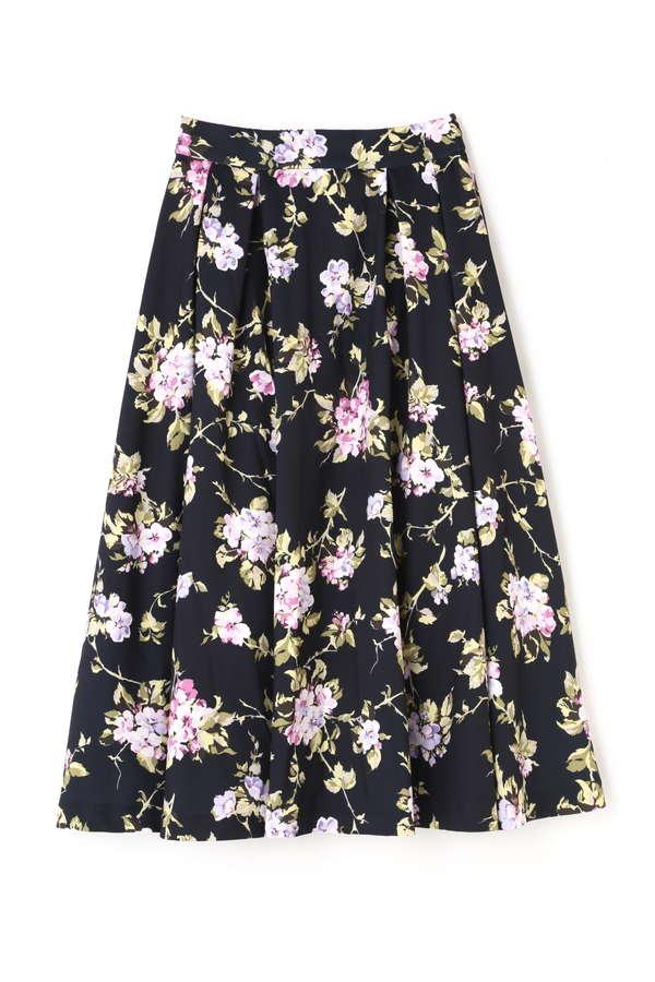 《EDIT COLOGNE》ハイウエストフラワースカート