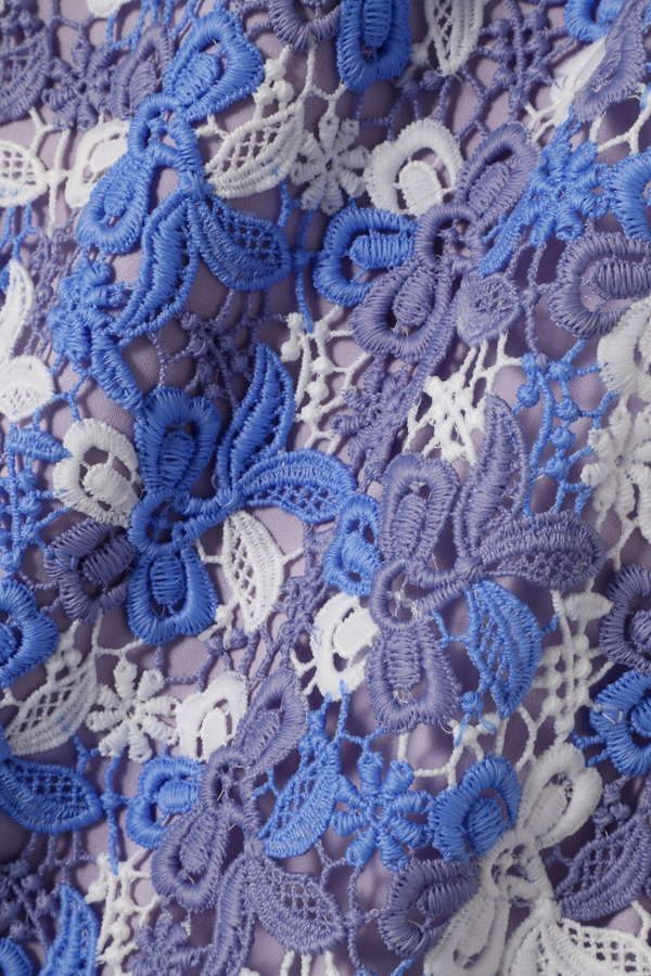 《EDIT COLOGNE》カラーレースミディスカート