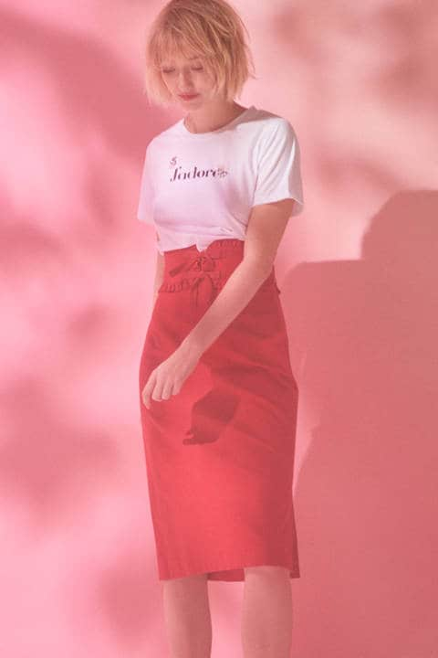 《EDIT COLOGNE》リボンベルトスカート