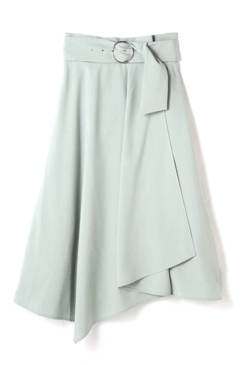 《BLANCHIC》ベルテッドアシメスカート