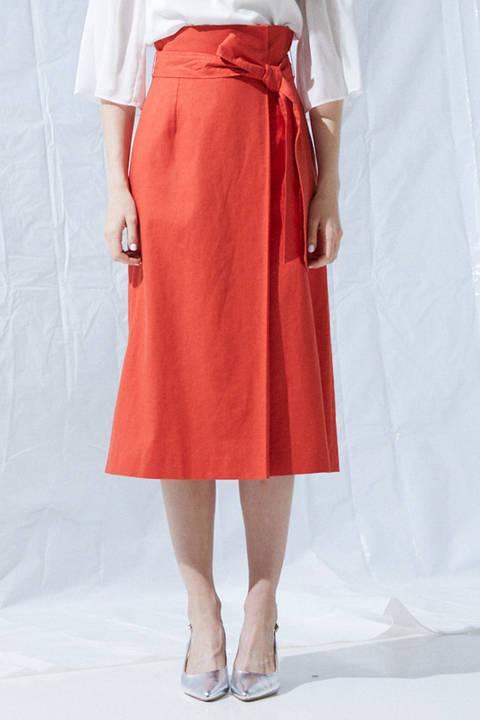 《BLANCHIC》リネンラップスカート