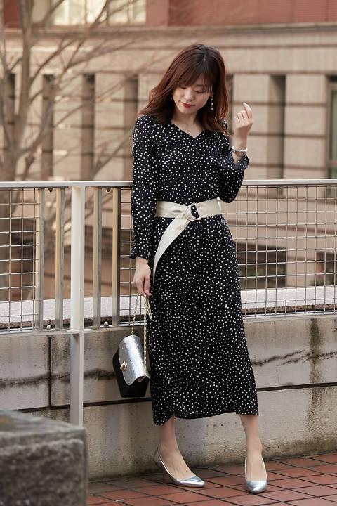 《BLANCHIC》レトロプリントドレス