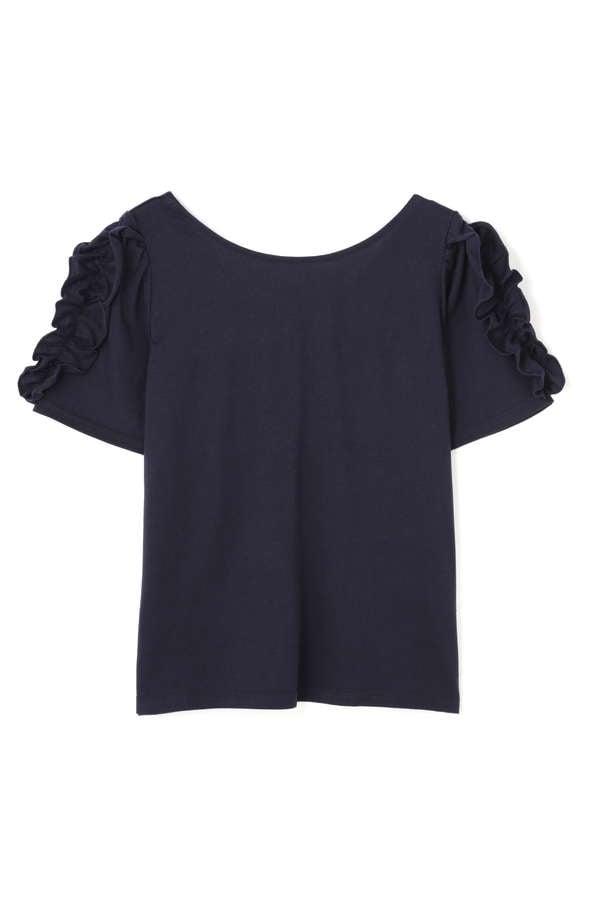 《EDIT COLOGNE》フリルプリントTシャツ
