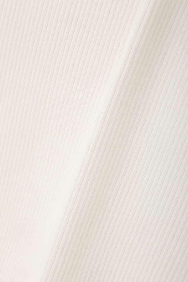 スカラップリブ7分袖ニット