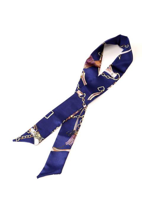 【美人百花4月号掲載】スカーフ柄バッグアクセサリー