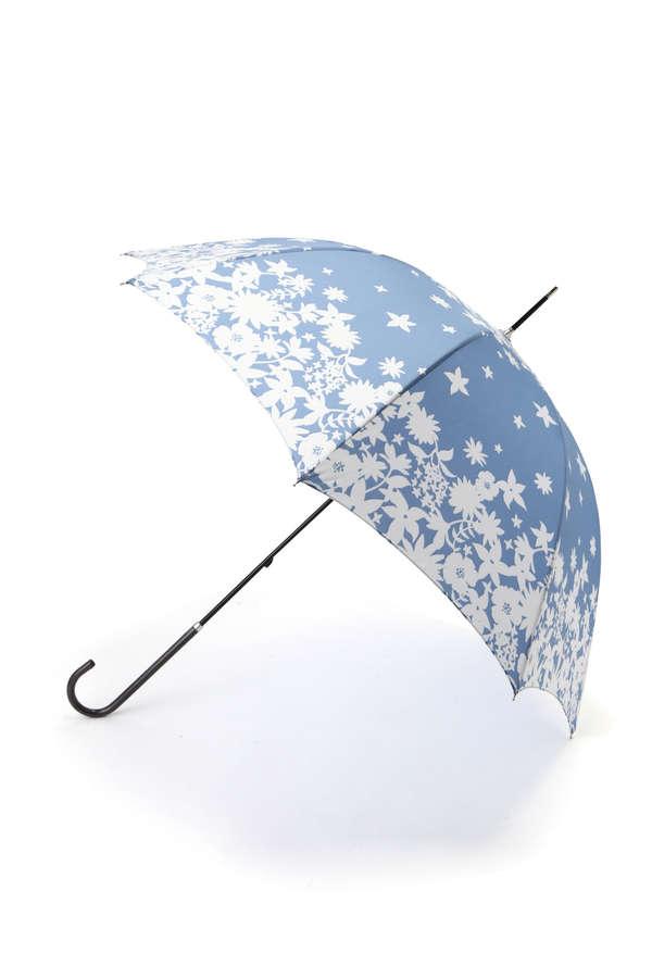 シルエットフラワープリント長傘