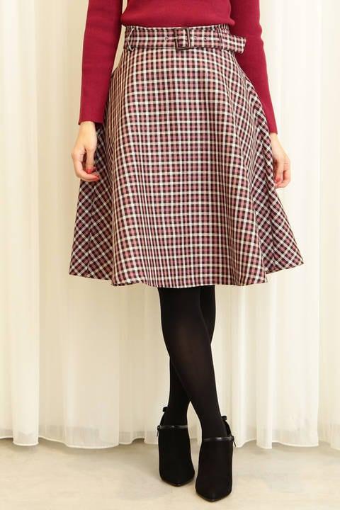 【先行予約10月中旬-下旬入荷予定】ガンクラブチェックフレアースカート