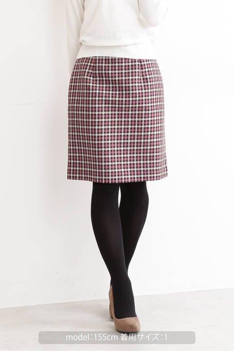 【先行予約10月中旬-下旬入荷予定】ガンクラブチェックタイトスカート
