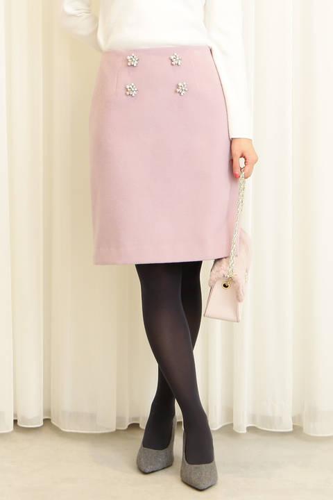 フラワービジュータイトスカート