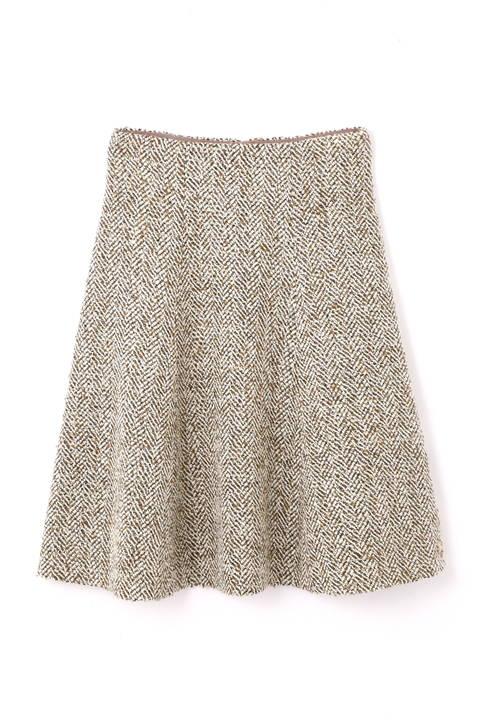 ラメヘリンボーンツィードフレアースカート