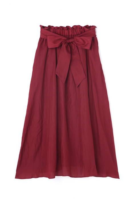 シルキーサテンスカート