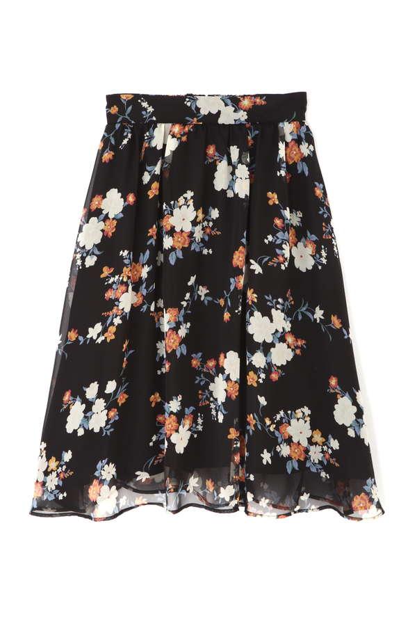 【cancam7月号掲載】フラワーブーケプリントスカート