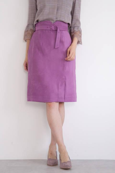 【先行予約_9月上旬-中旬入荷予定】シルキーフェイクスエードタイトスカート